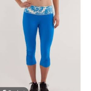 Lululemon Run For Your Life Crop In Beaming Blue
